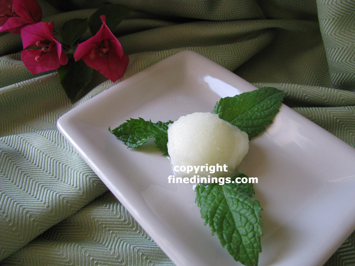 grapefruit mint sorbet