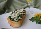 Savory French Toast with Spinach, Parmesan Cheese