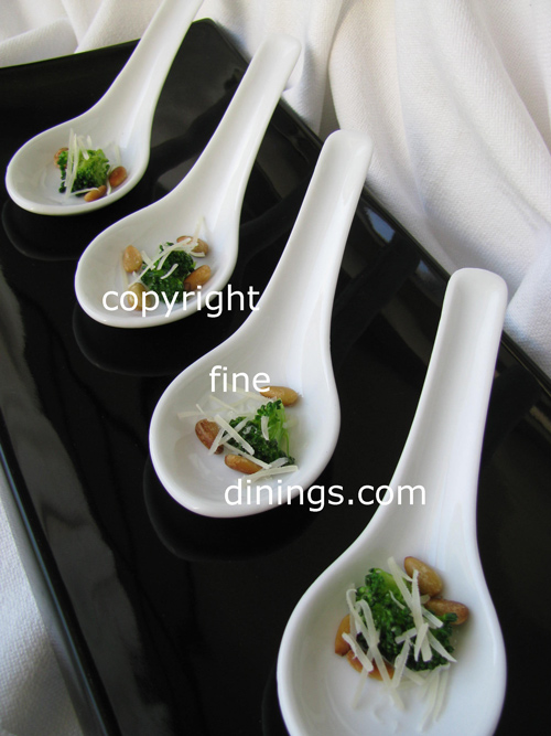 Amuse Bouche Broccoli Chinese Spoon Appetizer - Finedinings.com
