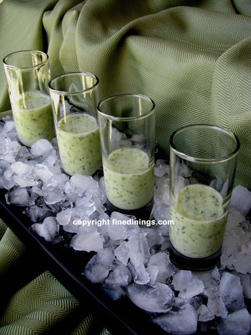 Chilled Cucumber-Dill Soup