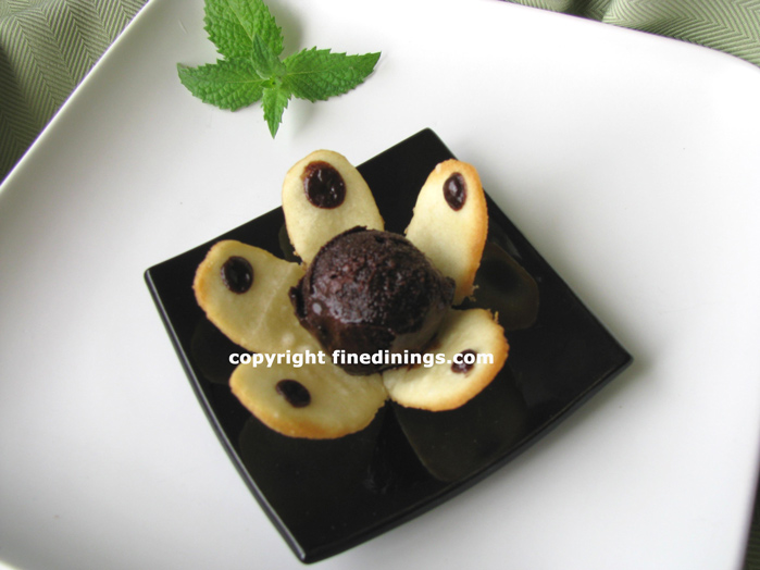Chocolate Sorbet Tuille Cookie