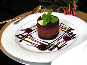 Individual Triple Layer Chocolate Mousse Cake - FineDinings.com ...