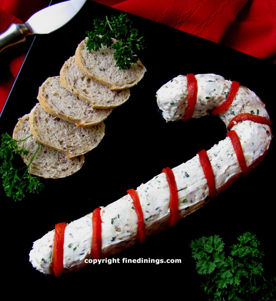 Christmas cream cheese candy cane dip