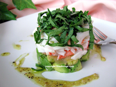 crab avocado with pickled ginger
