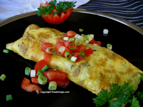 French Omelet Recipe With Fresh Vegetables Finedinings Com