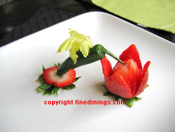 Hummingbird garnish