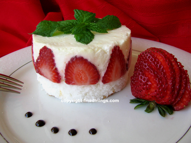 Mini Lemon Mousse Strawberry Cake - FineDinings.com ...