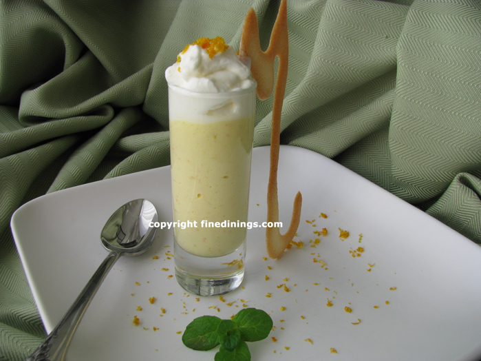Orange Creamsicle Float Dessert with Tuille - Fine Dining Recipe, How ...