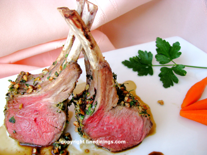 rack of lamb with herbs