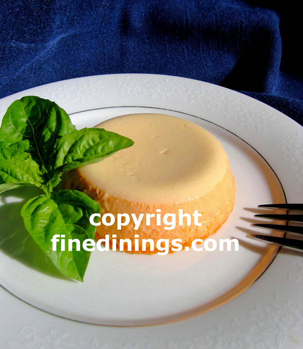 Roasted Red Pepper Flan
