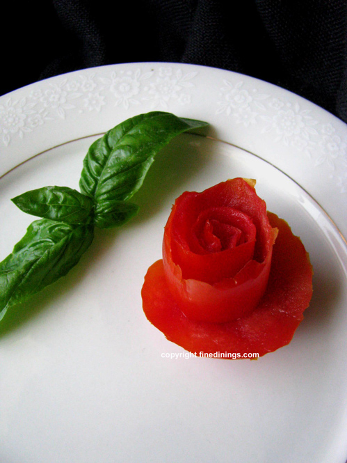 Tomato Rose Garnish