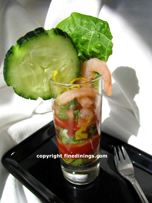 Amuse Bouche Shrimp Salad Shooter
