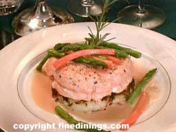 Salmon eight course dinner