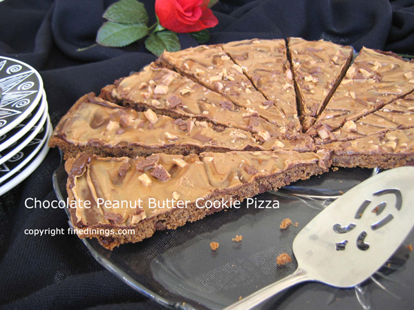 Chocolate Peanut Butter Cookie Pizza - Fine Dining Gourmet Recipe, how ...