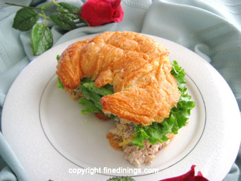 Croissant Filled With Smoked Chicken Sandwich Recipe Finedinings Com