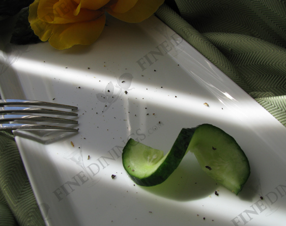cucumber curl garnish
