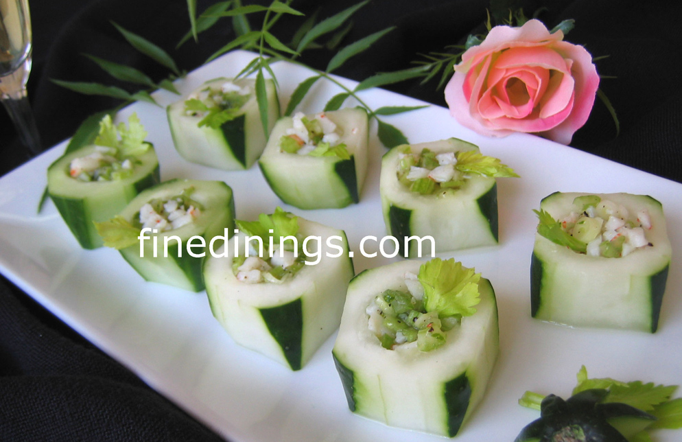 Beautiful 3 Course Dinner Party Ideas Part - 11: Cucumber Appetizer Cup
