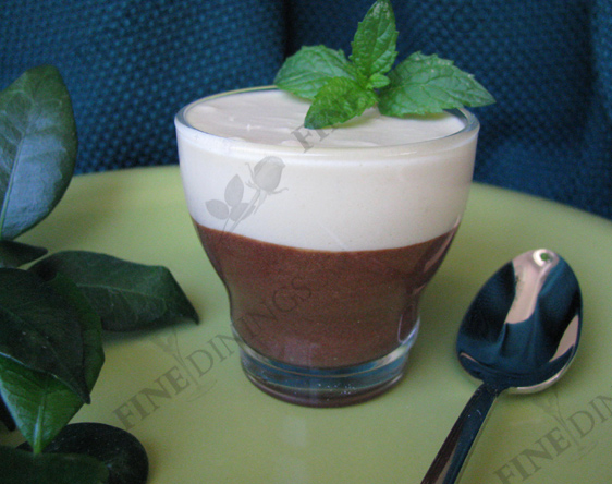 Dark and White Chocolate Mousse Dessert - Fine Dining, How To Make ...