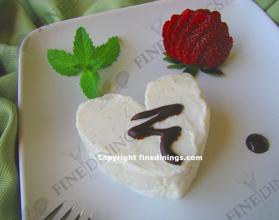 Ice Cream Heart Dessert