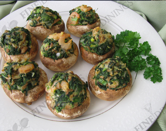 Stuffed Mushroom Caps with Spinach