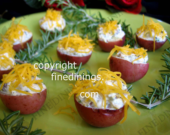 Stuffed Small Red Potato Appetizers
