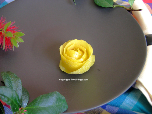 lemon rose garnish