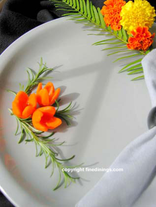 Carrot Flower Garnish
