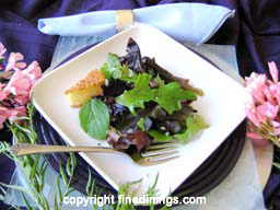 Mesclun Green Salad with Camembert Cheese