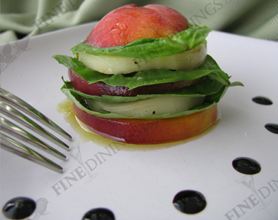 Stacked Caprese Salad With Balsamic Vinegar Recipe — Dishmaps