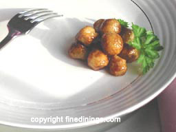 Parisienne potatoes