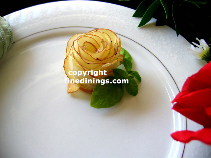 potato rose garnish