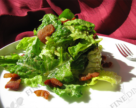 romaine salad with bacon dijon dressing