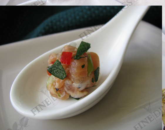Salmon Tartare Amuse Bouche Appetizer - FineDinings.com Recipe