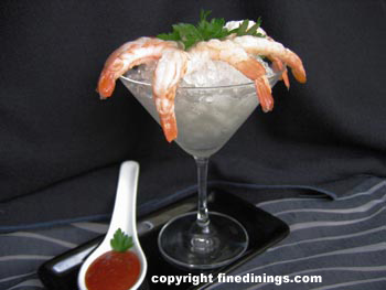 shrimp martini glass
