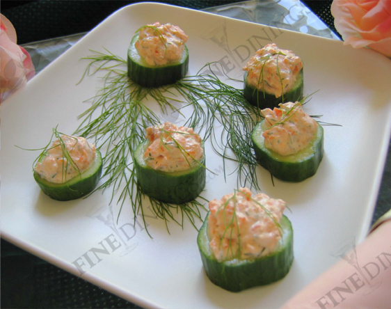smoked salmon mousse cucumber slices