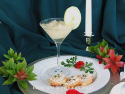 Champagne Granita with Smoked Trout Appetizer