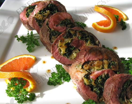 stuffed rolled leg of lamb