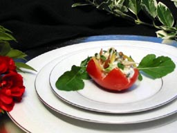 tomato stuffed with chicken