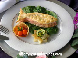 3 Course Menu, Gourmet Dinner Party Recipe, Baked Trout Recipe